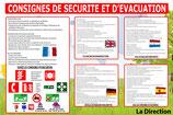 Consignes d'évacuation incendie 5 langues