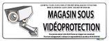 Magasin sous vidéo protection