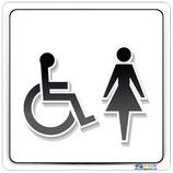 Plaque handicapé femme