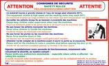 Panneau décret laverie 3 Langues