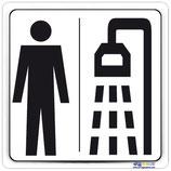 Plaque douche homme
