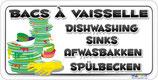 Bac à vaisselle en 4 langues