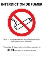 Interdit de fumer avec texte