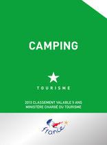 Panonceau de classement Camping Tourisme