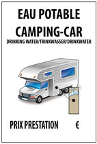 Camping car eau potable
