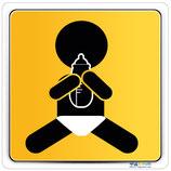 Plaque avec pictogramme bébé avec biberon