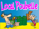 Local poubelle cartoon
