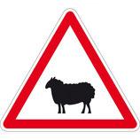 """Panneau A15a2 """"passage d'animaux domestiques"""""""
