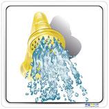 Adhésif ou panneau avec image douche