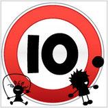 Panneau carré 10 pictogramme enfant