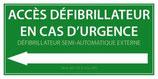 Accès défibrillateur en cas d'urgence, défibrillateur semi-automatique
