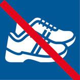 Pictogramme piscine chaussures interdits