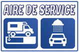 Panneau Aire de service camping car,  vidange et lavage