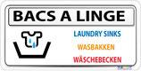 Bac à linge avec pictogramme - 4 langues