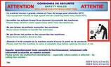 Panneau décret laverie 2 Langues
