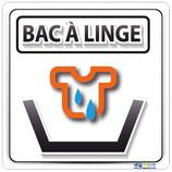Plaque de porte bac à linge avec texte en Français