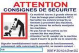 Panneau décret laverie francais