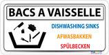 Pictogramme lavage vaisselle - 4 langues