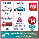Plaque pictogramme services d'urgence