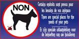 Endroits prévus pour chiens
