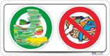 Pictogramme lavage vaisselle - lavage linge interdit
