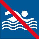 Pictogramme nager interdit