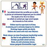 Panneau surveillance enfants 3 langues