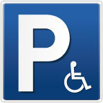 Parking handicapé bleu dégradé