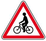 """Panneau A21 """"débouché de cyclistes"""""""