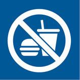Pictogramme piscine nourriture et boissons interdits