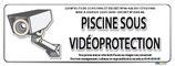 Piscine sous vidéo protection