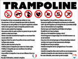 Consignes utilisation trampoline en 2 langues