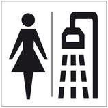 Plaque douche femme
