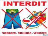 Caleçon et chaussures interdits 4 langues