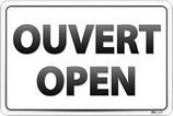 Panneau ouvert/open