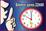 Silence avec horloge