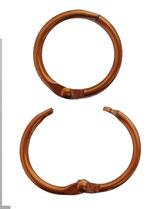 Ring-Karabinerhaken für Steuermarke, Schlüssel o.ä., kupfer (Abverkauf)