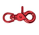 Scherenkarabinerhaken aus Metall, Elegant Red, runder Durchlass 13mm