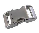 AluMax® Klickverschluss hochglanz oder satiniert, silber, 20mm / 25mm, für Hundezubehör