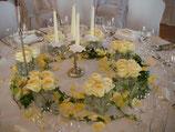 Blumen im Glas Tischdekoration