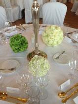 Blumenkugel Tischdekoration
