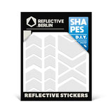 Reflective Berlin reflecterende stickers Chevrons