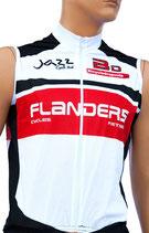 Flanders Body, zonder mouw, lange rits PRO