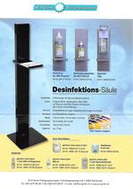 Display A4 für Werbung etc. zu Säulensystem