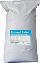 Feinwoll Pulver 15kg , Buntwaschmittel 30°C - 60°C