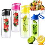 Flip-top Wasserflasche 800ml mit Fruchteinsatz