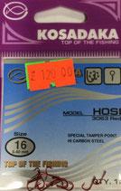 Крючки Kosadaka HOSI 3063 RED № 16