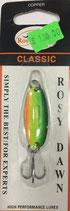 Блесна форелевая планирующая Rosy Dawn Classic 4 гр., 38 мм  Цвет 025, подложка - серебряный
