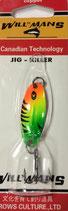 Блесна форелевая планирующая GROWS CULTURЕ 01 WILL-MANS GC 38 мм, 4 гр  Цвет подложки: морковныйE