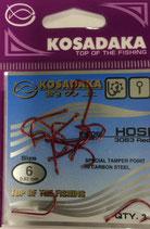 Крючки Kosadaka HOSI 3063 RED № 6